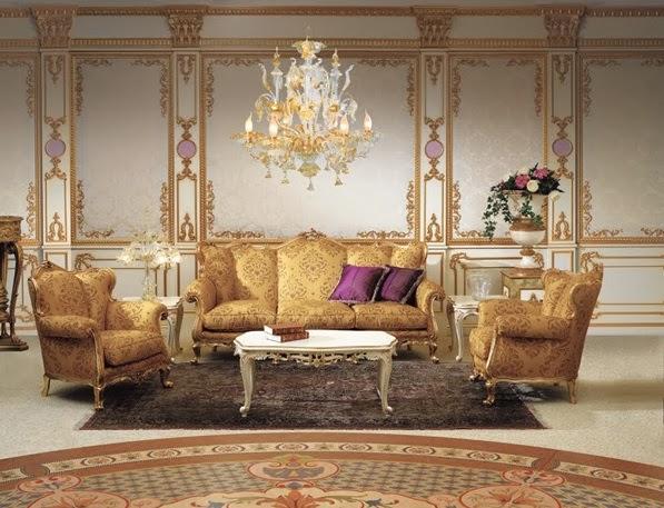 D coration salon royal th me d coration salon d cor de for Baroque living room ideas