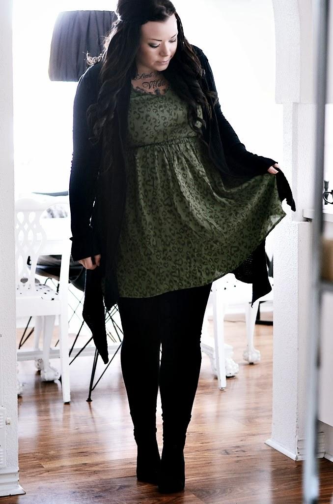 leopardskor, grön leopard, ellos, H&M, outfit, blogg, bloggare