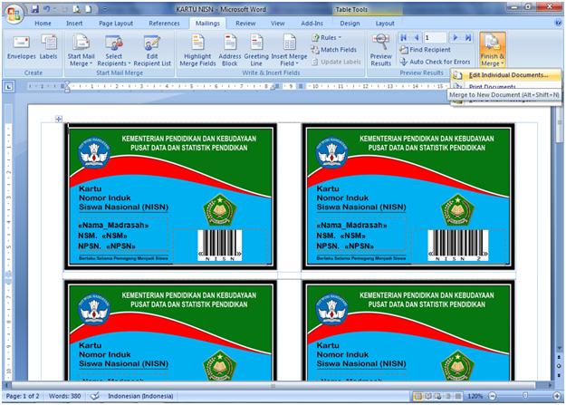 Download Software Aplikasi Cetak Kartu NISN dengan Barcode 2015-2016