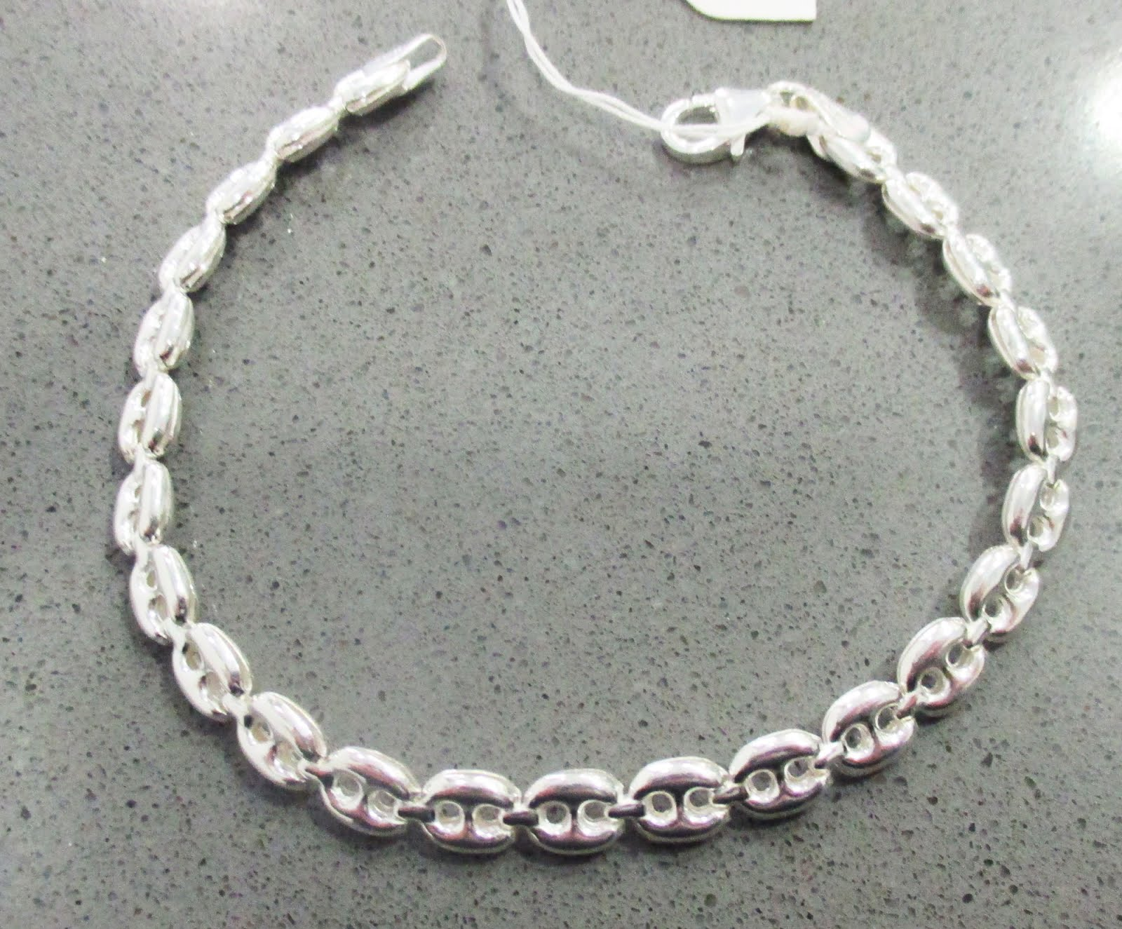 Pulsera de plata de calabrote