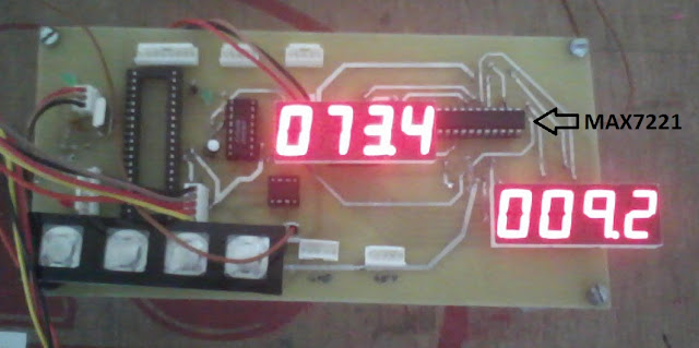 PIC with 7 segment display driver MAX7221