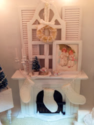 Miniature Shabby White Fireplace