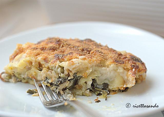 Lasagne vegetariane con biete e patate