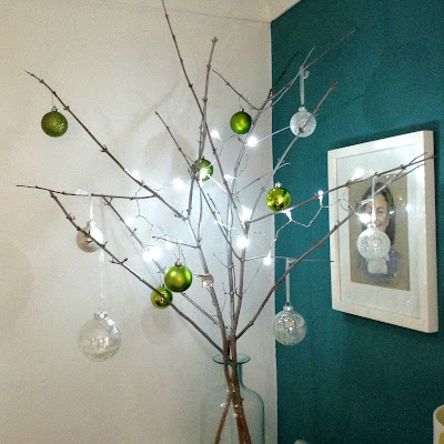 Christmas stick tree