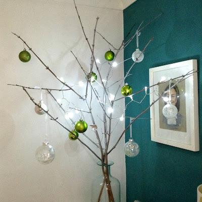 Christmas stick tree