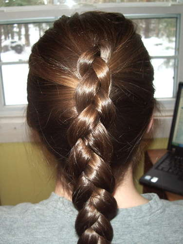 how to french braid own hair - photo #25