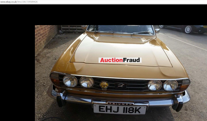 EBAY SCAM : 1972 Triumph Stag   EHJ118K - Classic Car Fraud - EHJ ...