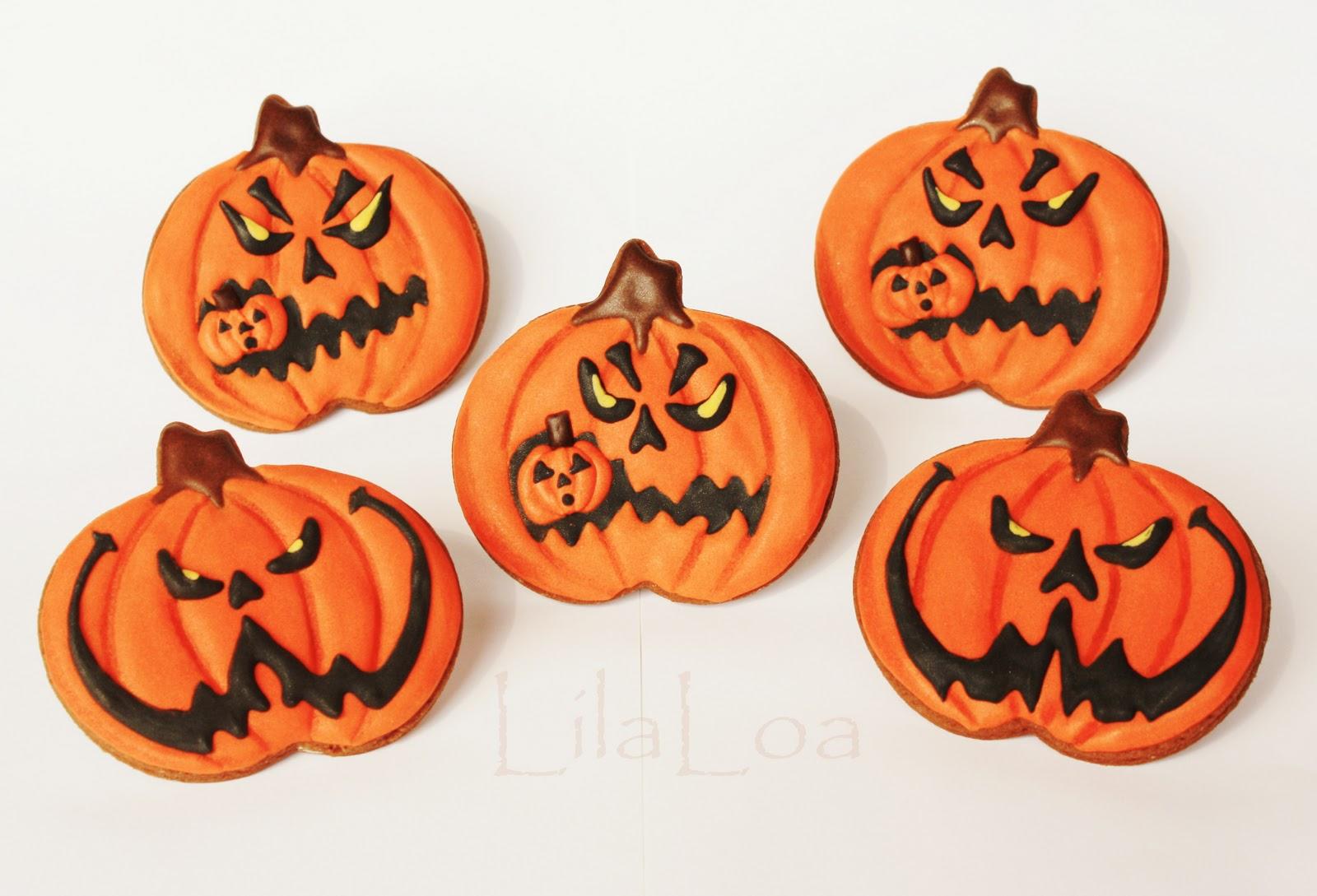 Jack-O-Lantern Cookies | LilaLoa: Scarier Jack-O-Lantern Cookies