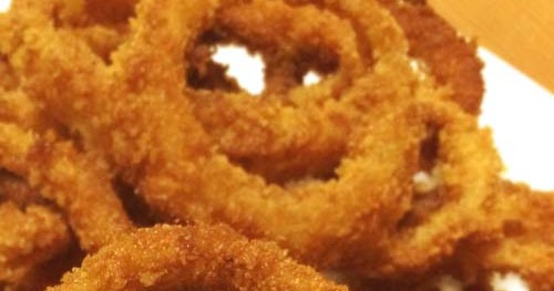 Onion Rings With Only Bread Crumbs