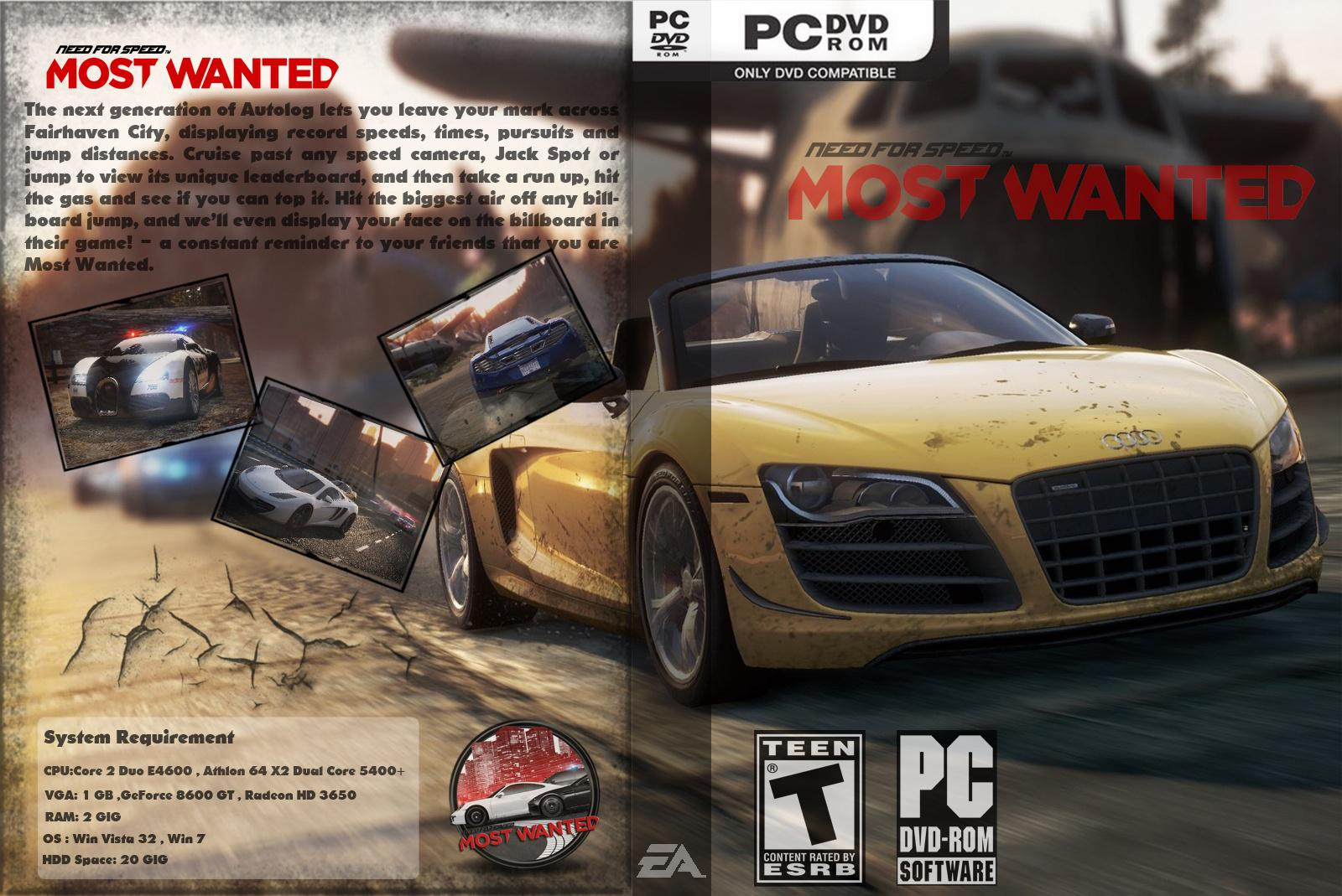 Capa Need For Speed Most Wanted PC