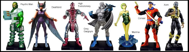 <b>Wave 3</b>: Psycho-man, Deathbird, High Evolutionary, Grey Gargoyle, Marrina, Corsair and Xorn