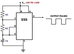 Pulse Position Modulation Ppm Using 555: Charging And Discharging Capacitor Diagram At Nayabfun.com