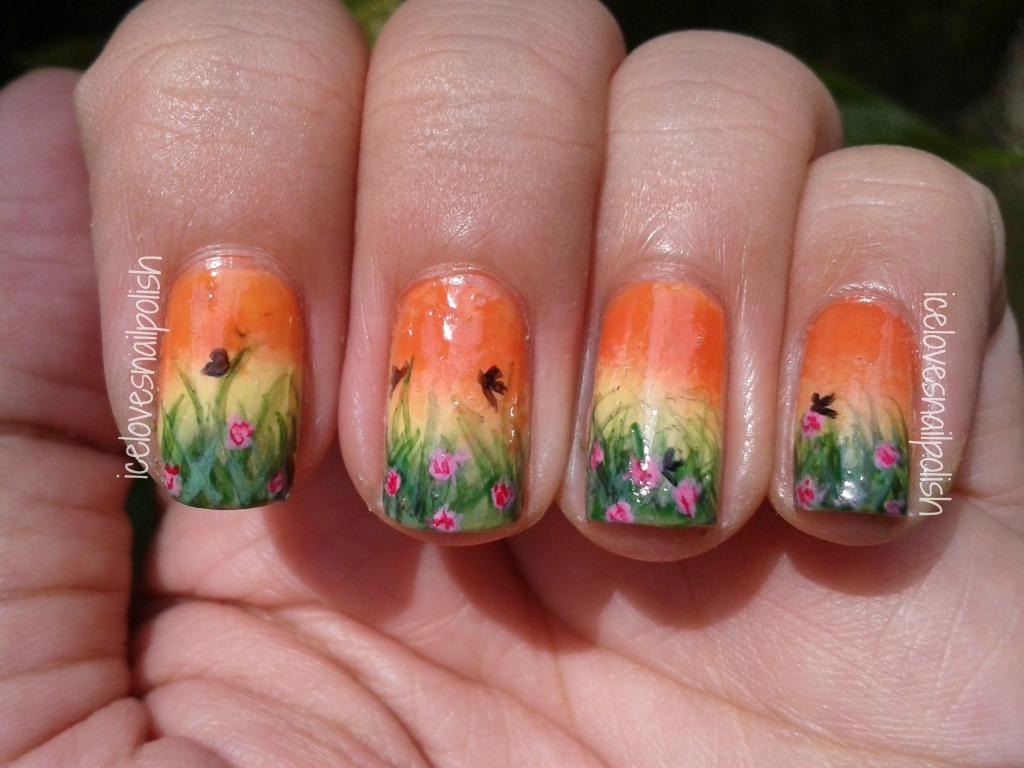 Day 2 of 31-Day Nail Art Challenge : Orange Nails   icelovesnailpolish