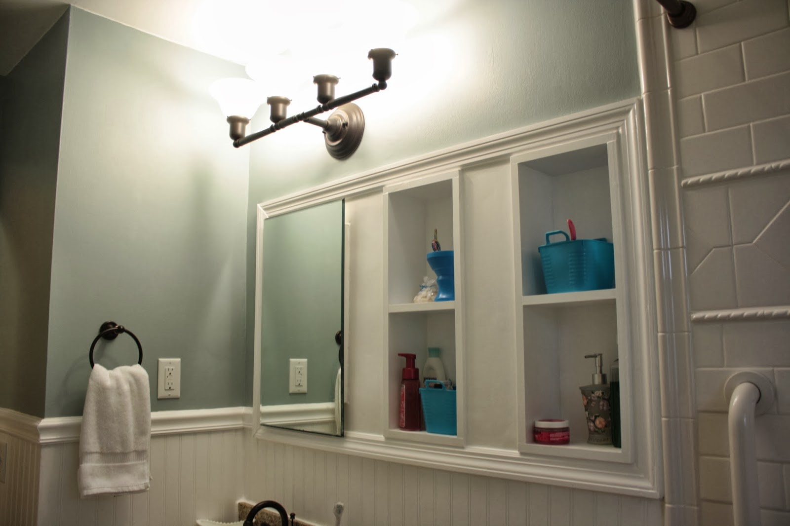 Bathroom Vanity Lights Facing Up a beautiful new bath | anne thompson designs