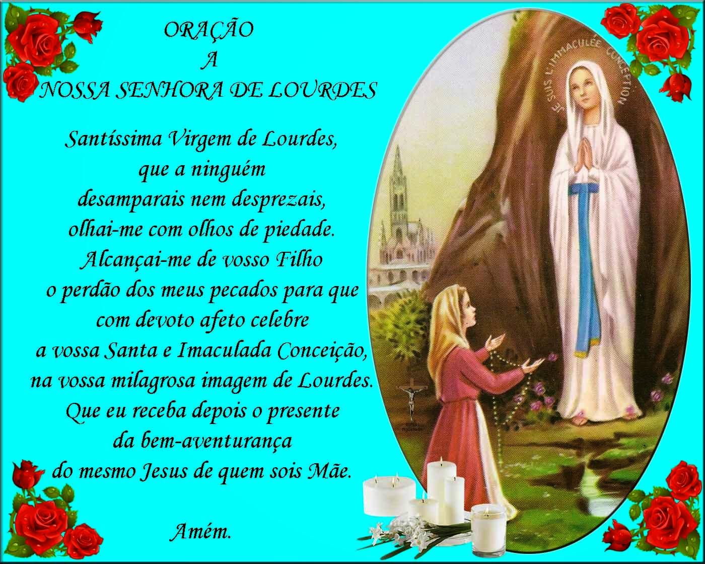 Orações Tradicionais Oração A Nossa Senhora De Lourdes