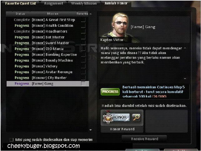 First Step - Mencapai level 8 di Counter-Strike Online