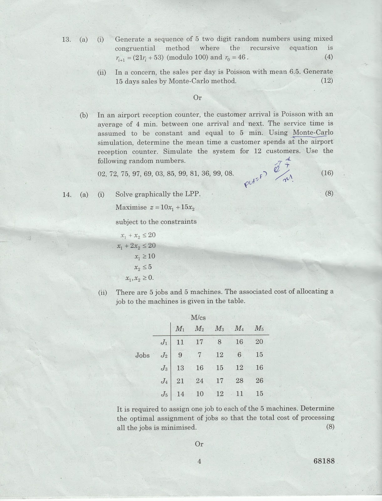 ma9219 operations research question papers Ological papers as well as papers that are based on empirical research study this question and identify production and operations management 17(3.