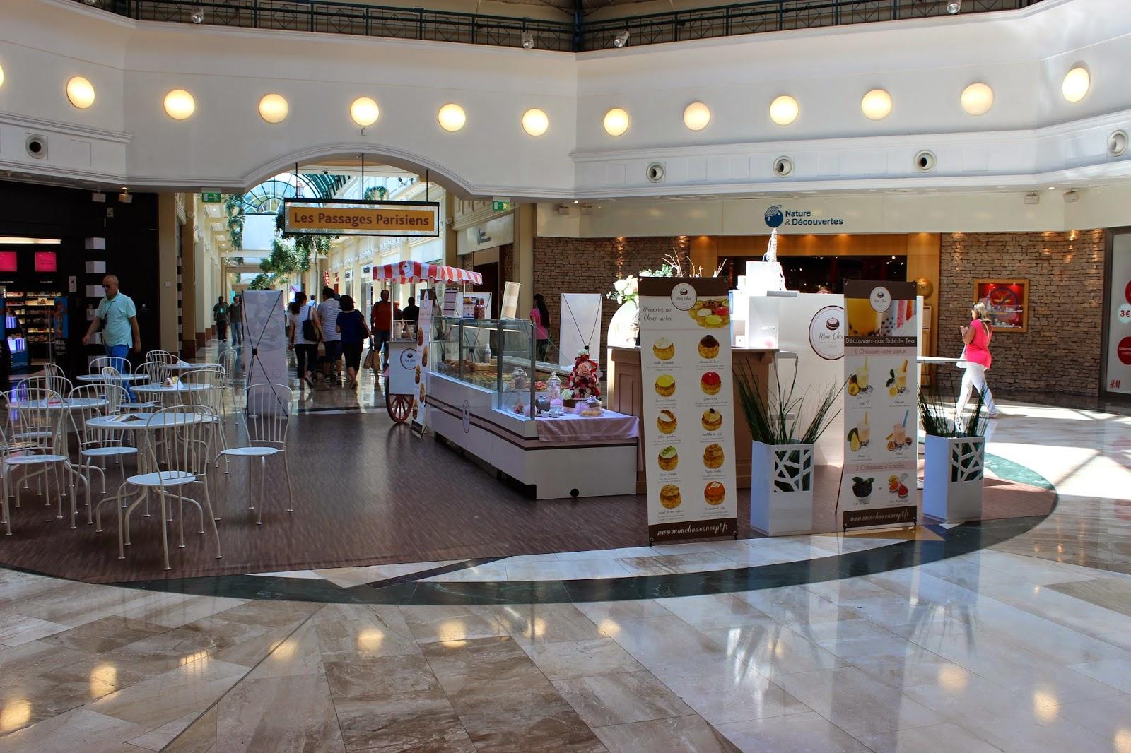 Centre commercial Val d'Europe concept mon chou