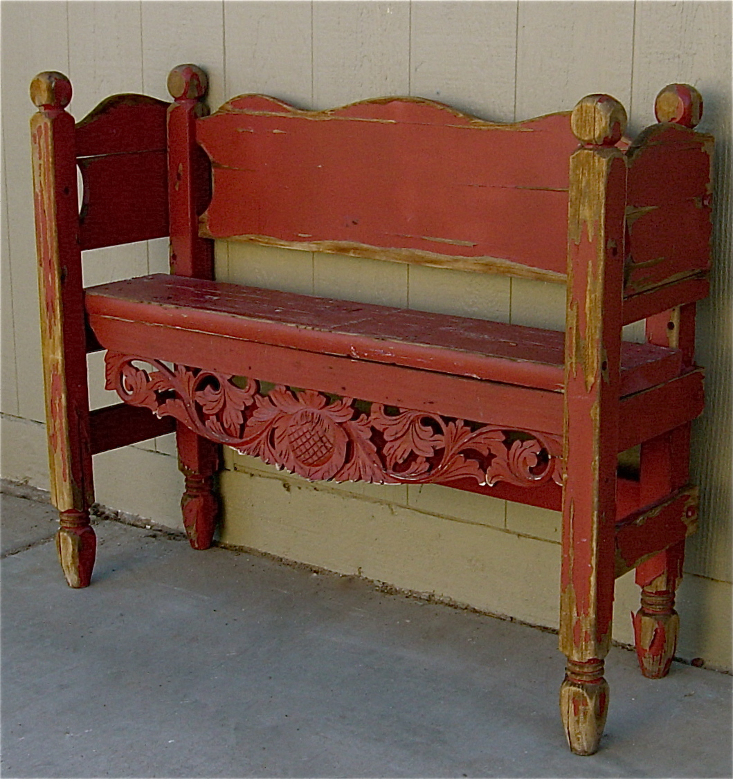 Shabby Chic Bench ~ The backyard boutique by five to nine furnishings antique
