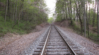 railroad tracks scenic woods
