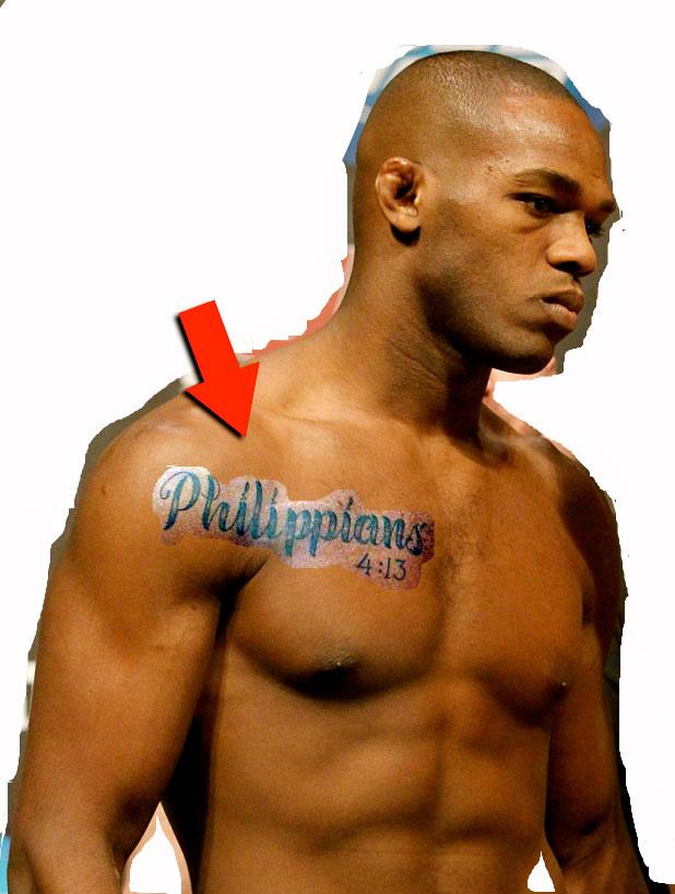 Had Noticed The Tattoo Jon Bones Jones Had On His Chest As Seen Below