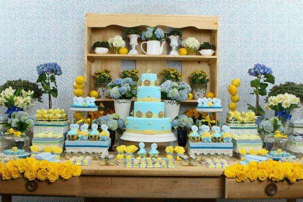 decoracao de casamento azul e amarelo simples : decoracao de casamento azul e amarelo simples:Casada e Apaixonada: Decoração Azul e Amarelo