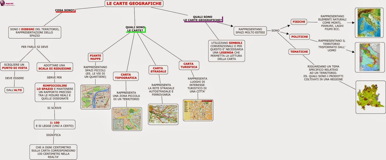 mappa dsa geografia carte