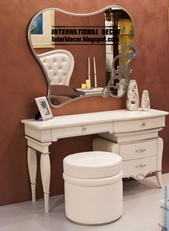 white dressing table with hang mirror, buy dressing table