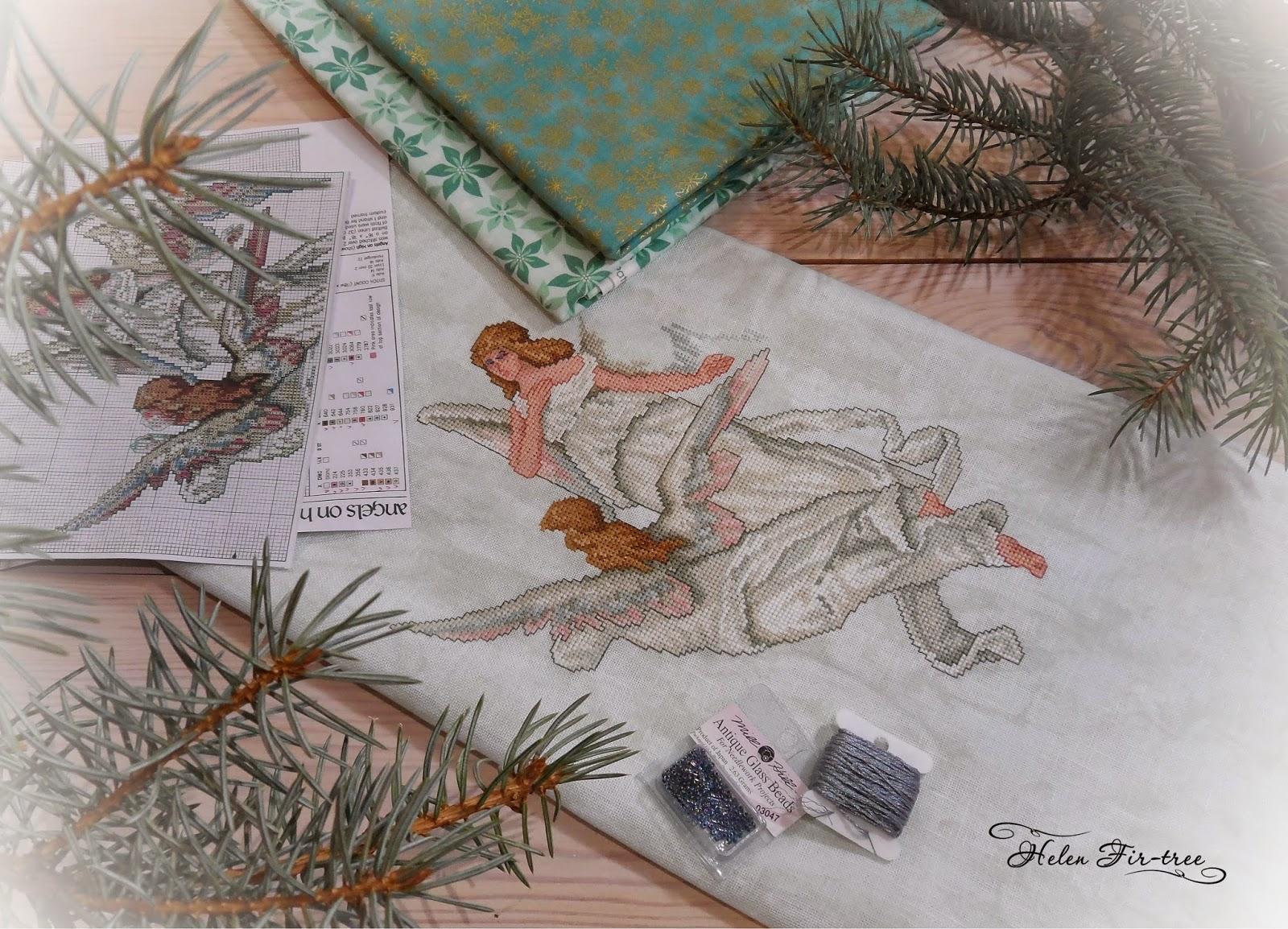 Helen Fir-tree вышивка Рождественские ангелы embroidery Christmas Angels