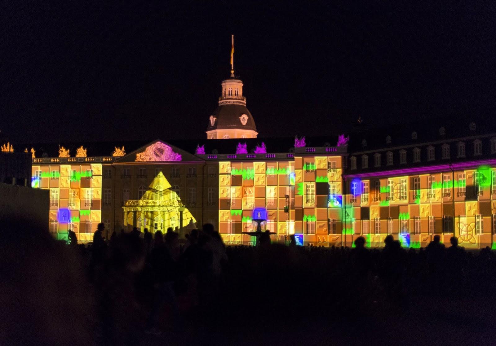 Lichtfestspiele Karlsruher Schloss 300. Stadtgeburtstag