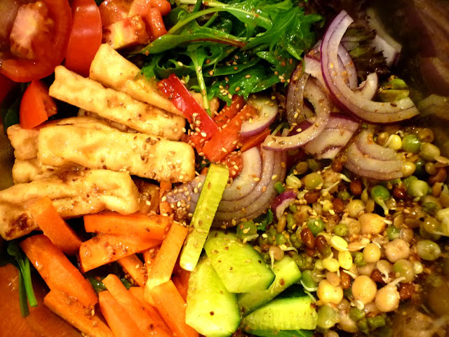 Tofu and Sprout Salad with Sesame Vinaigrette | boil meets grill ...