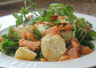 HOT SMOKED SALMON AND POTATO SALAD