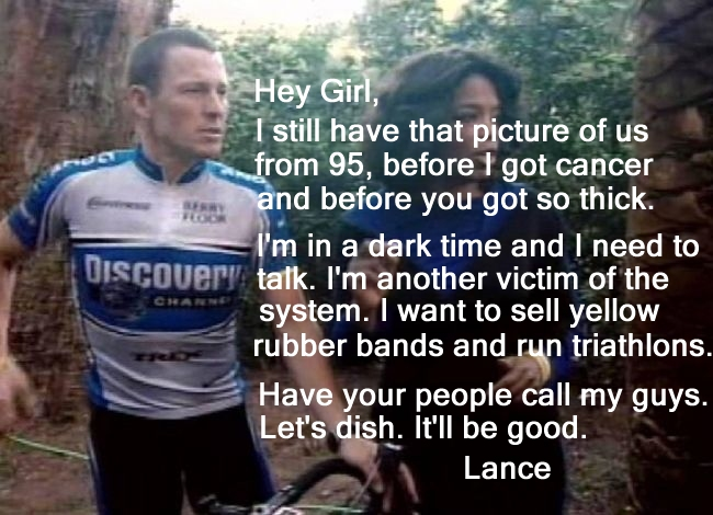 Lance Armstrong to Oprah Winfrey: Hey Girl...