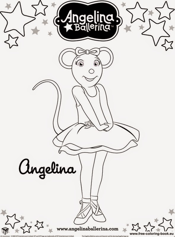 Angelina Ballerina Coloring Pictures
