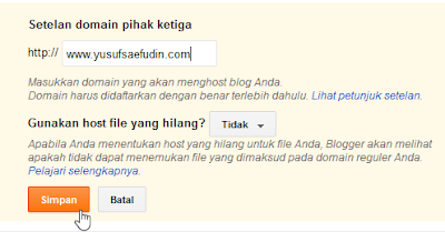 masukan domain yang sudah kamu beli