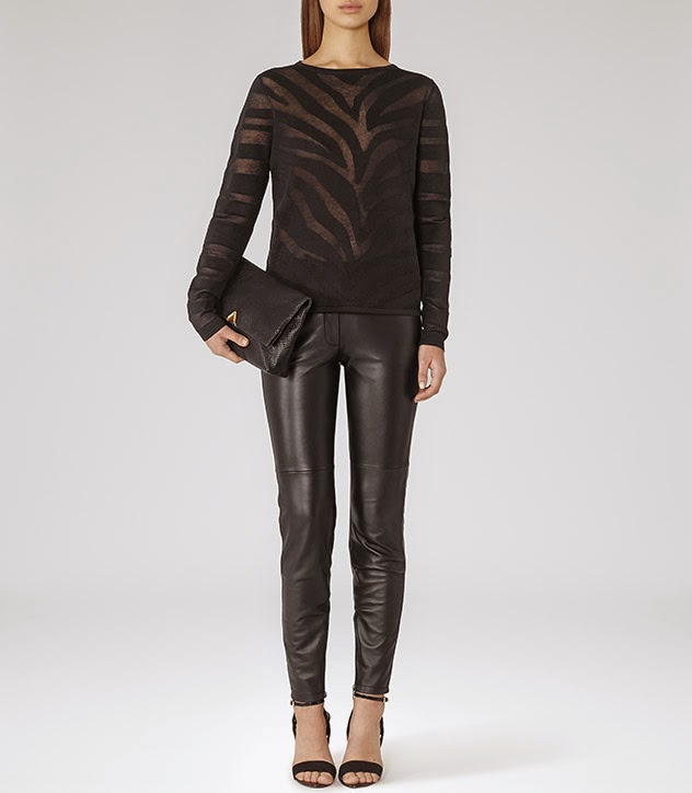 reiss sheer black jumper,