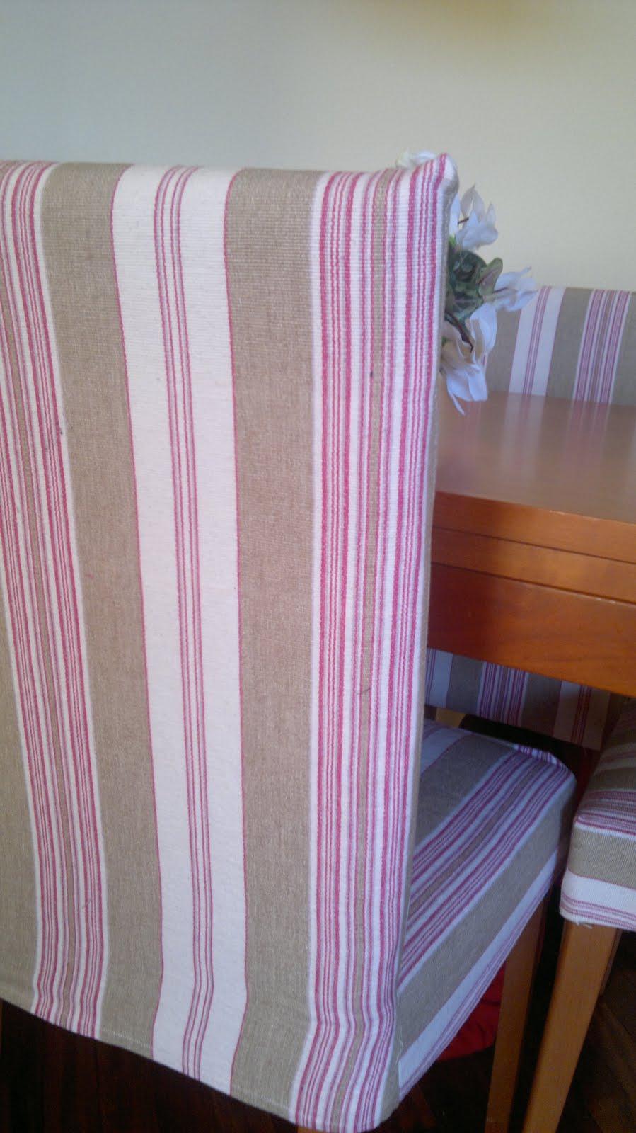 Fundas para las sillas de comedor costura juntitoscrafts punto y manualidades - Fundas asiento sillas comedor ...