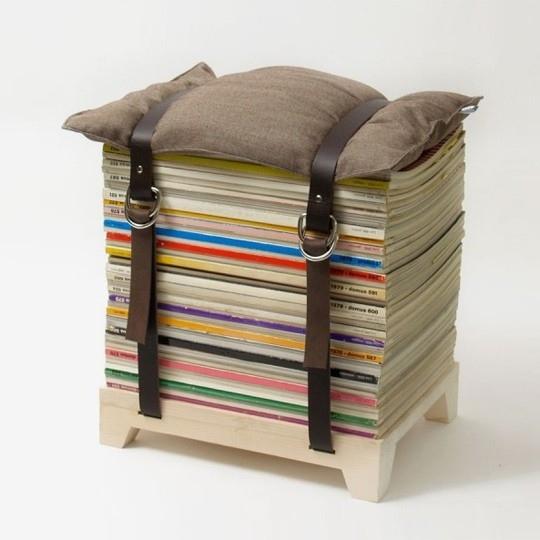 Make a magazine stool