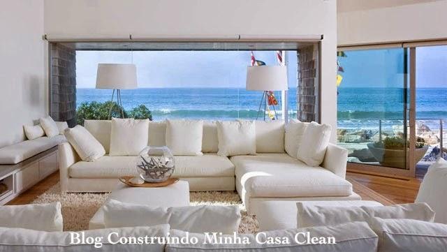Sala De Tv Com Sofa Branco ~  Casa Clean 15 Salas com Sofá Branco Decoradas! Super Tendência