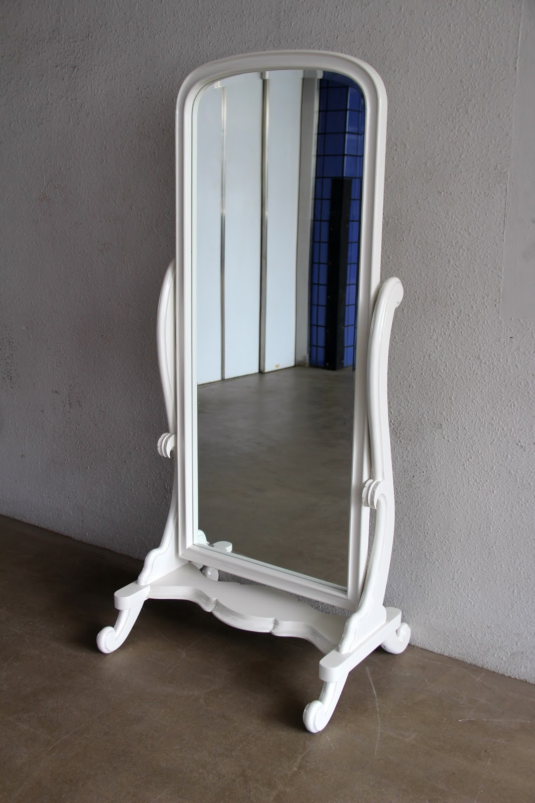 French furniture latest additions at second charm for Long standing mirror