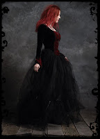 Custom Gothic Wedding Gown