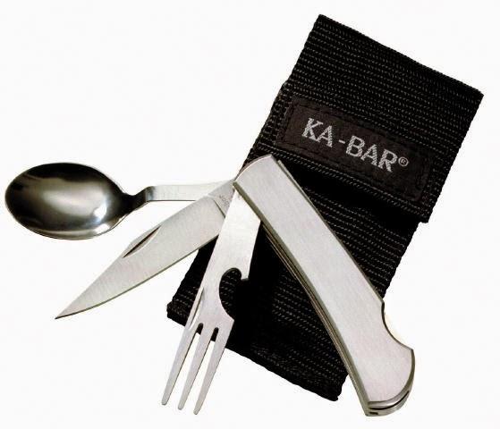 KA-BAR Hobo : couteau de camping avec cuillère et fourchette