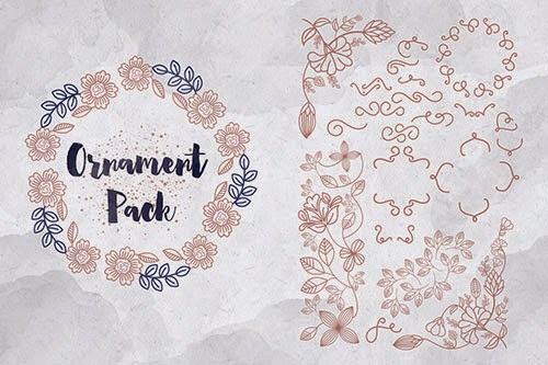 heartwell-font-free-ornaments