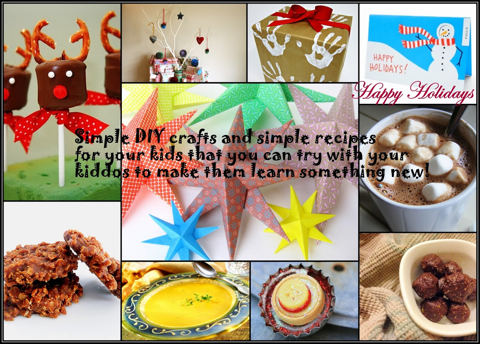 Christmas Crafts and Recipe for Kids