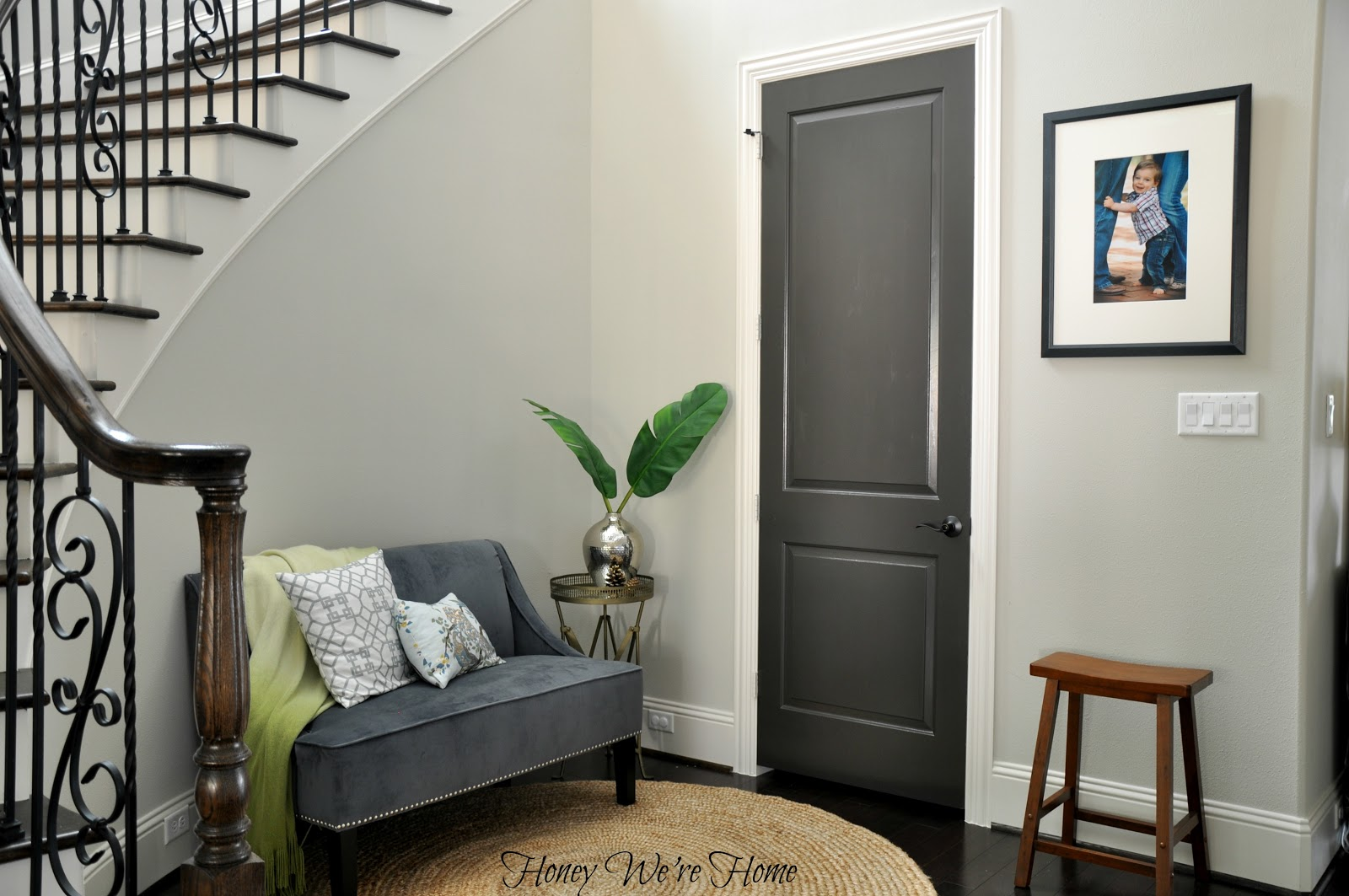 Black gray painted interior doors honey we 39 re home for Black interior paint