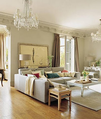 Luxury Soft Colors Living Room Design