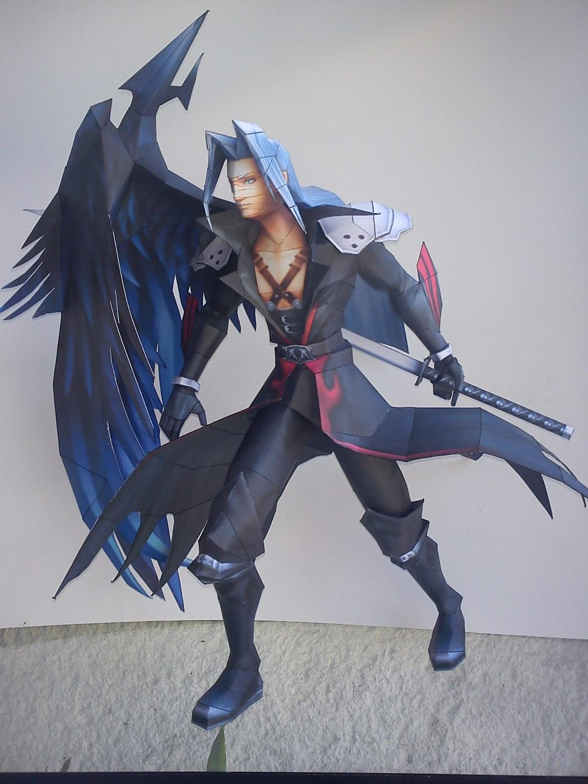Dissidia 012 KH Sephiroth Papercraft