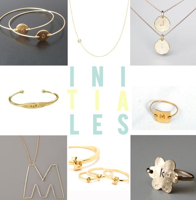 bijoux initiales