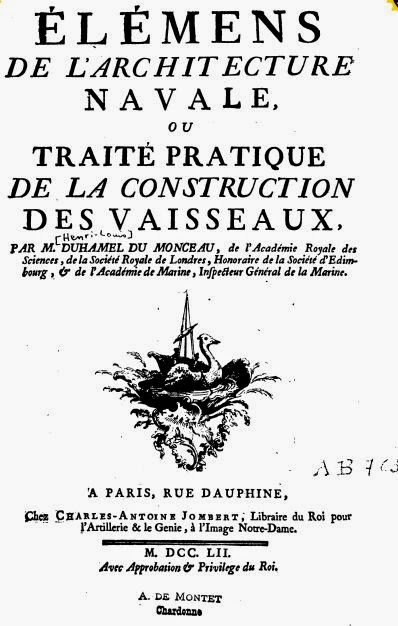 1752 - ELEMENTS DE CONSTRUCTION NAVALE