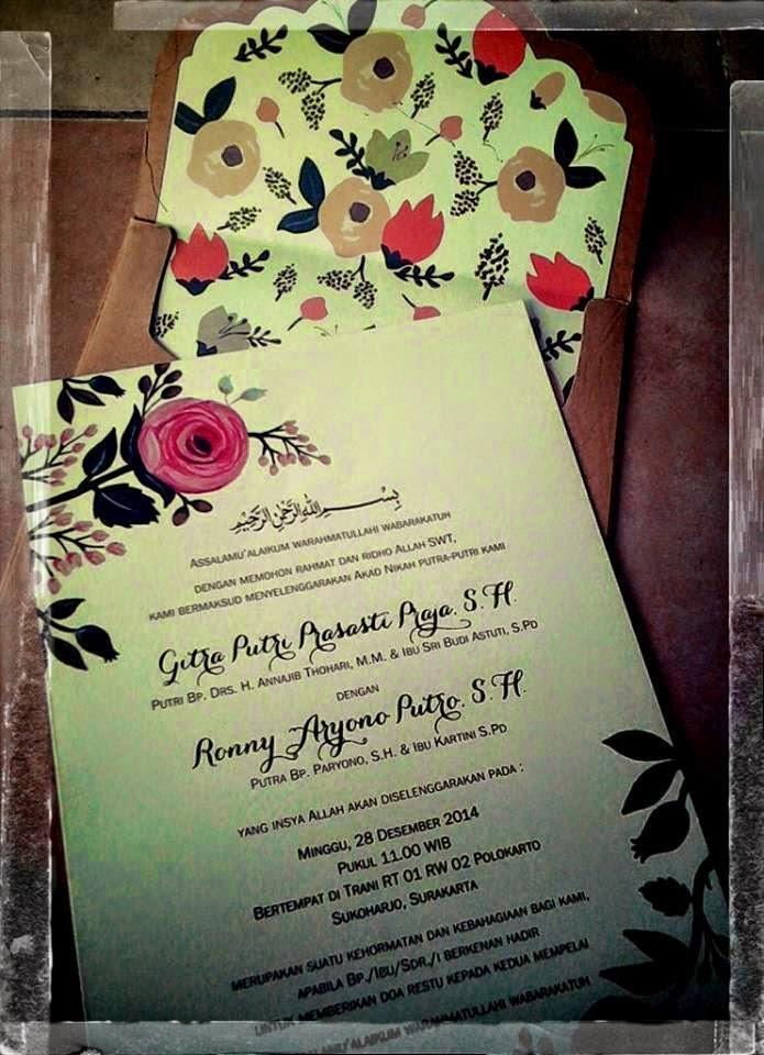 Undangan Pernikahan Vintage Sulur Bunga ( SC _ enha 084 )
